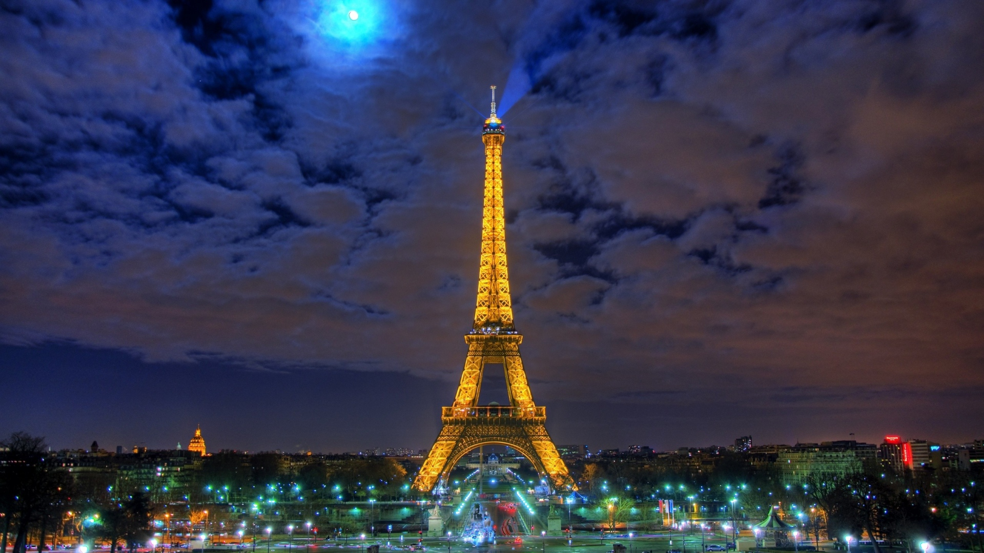 Download Wallpaper 1920x1080 Eiffel Tower Paris France Black White Point Of Interest Full Hd 1080p Hd Background