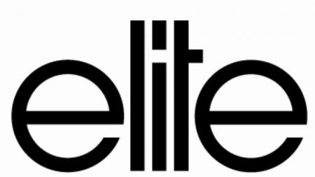 elite, logo, black white