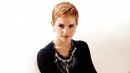 emma watson, short hair, red hair