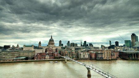 england, london, millennium bridge