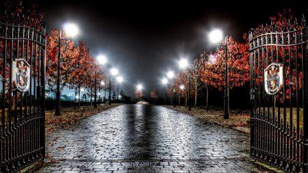 england, night, light