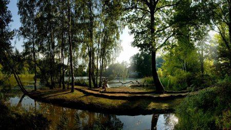 es, park, river