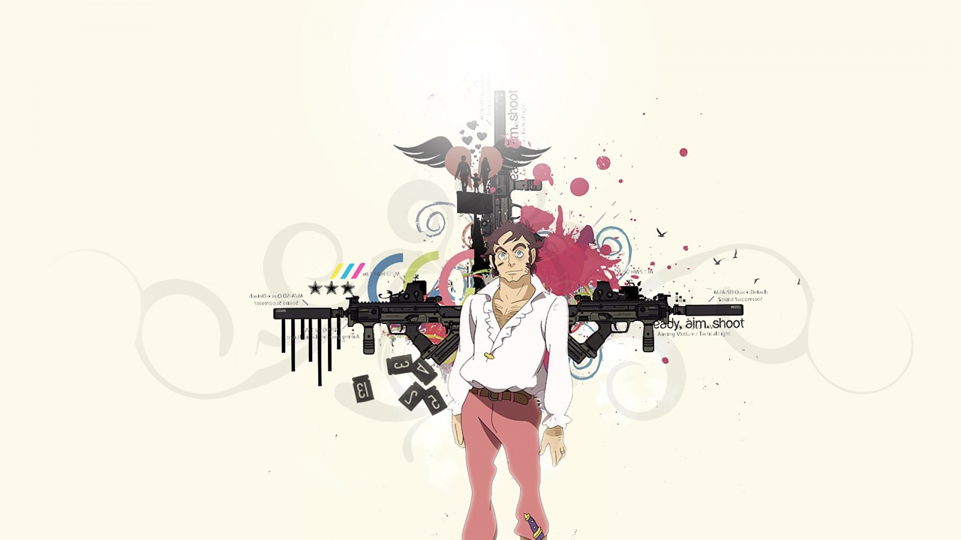 eureka seven, man, knife