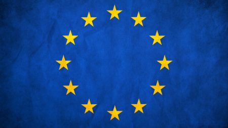 european union, flag, stars