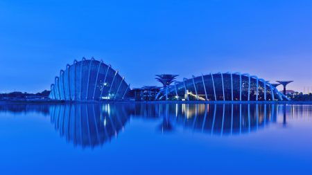 evening, gardens by the bay, malaysia