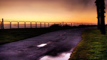 evening, park, quay