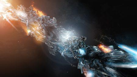 explosion, light, dark