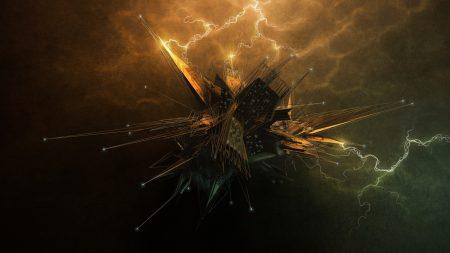 explosion, light, gleams