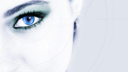 eye, line, blue