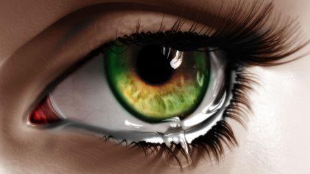 eye, tear, macro