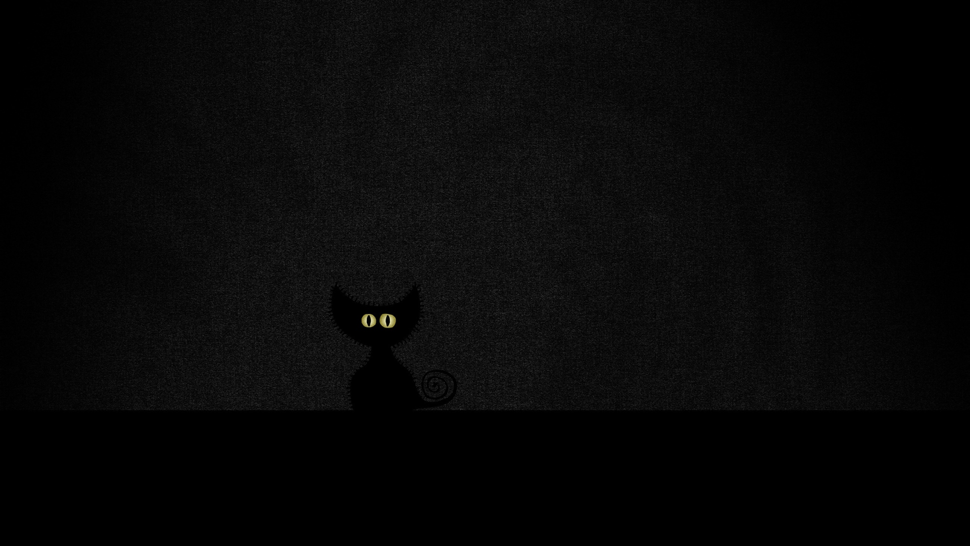 Download Wallpaper 1920x1080 eyes, minimalism, black, cat ...