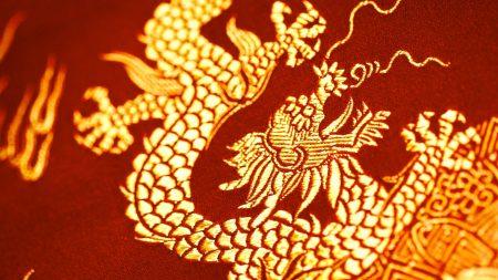 fabric, pattern, dragon