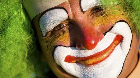 face, clown, makeup