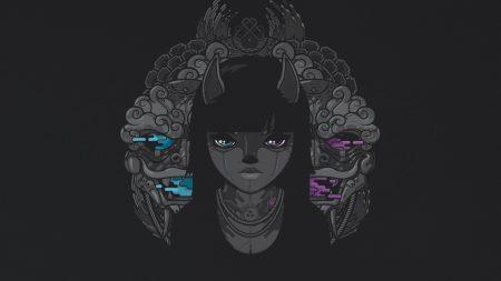 face, eyes, background