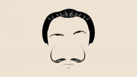 face, mustache, hair