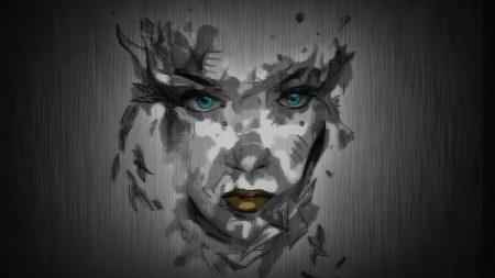 face, paint, background