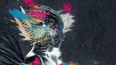 face, paint, explosion