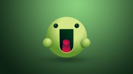 face, tongue, green
