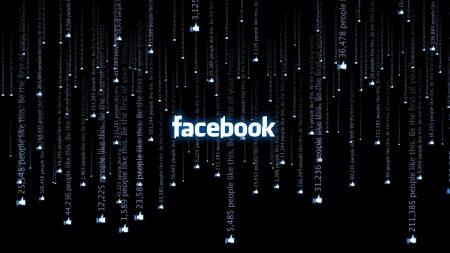 facebook, white, black