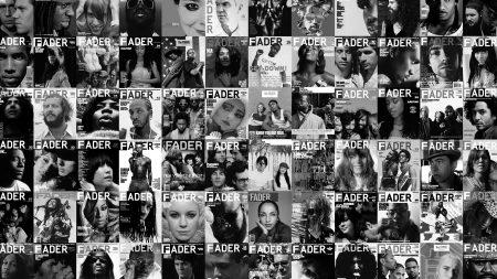 fader, magazine, black white