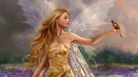 fairy, girl, wings