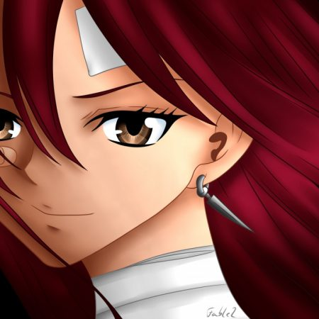 fairy tail, erza scarlet, girl