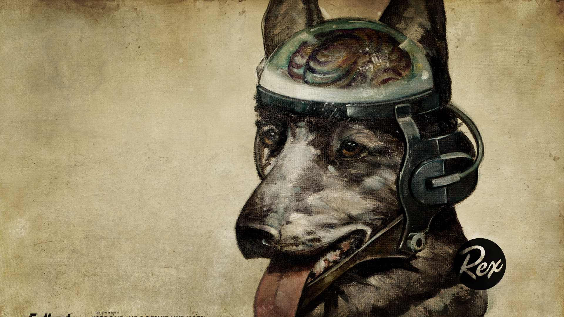 Download Wallpaper 1920x1080 Fallout Quote Dog Look Full Hd