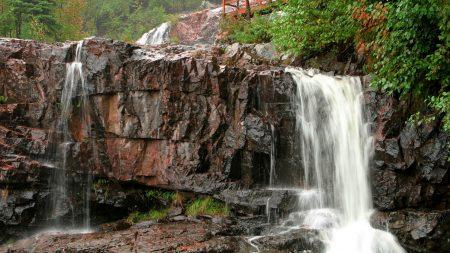 falls, blocks, rocks