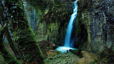 falls, gorge, rocks