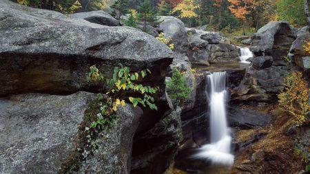 falls, rocks, autumn