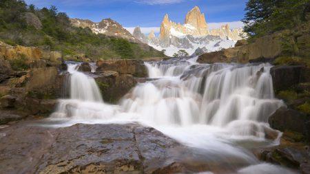 falls, stones, wet