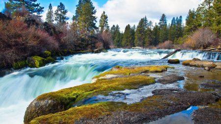 falls, stream, force