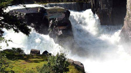 falls, stream, prompt