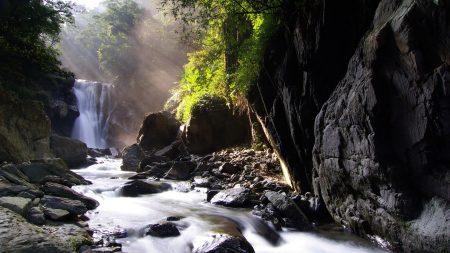 falls, stream, sources