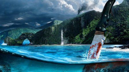 far cry, knife, island