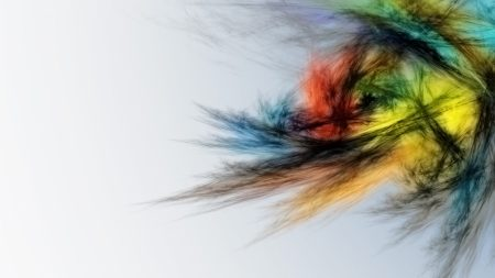 feathers, lines, multi-colored