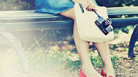 feet, girl, bench