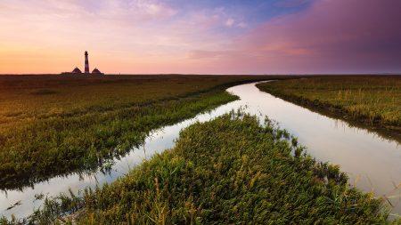 field, channel, water