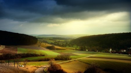 fields, distance, sky