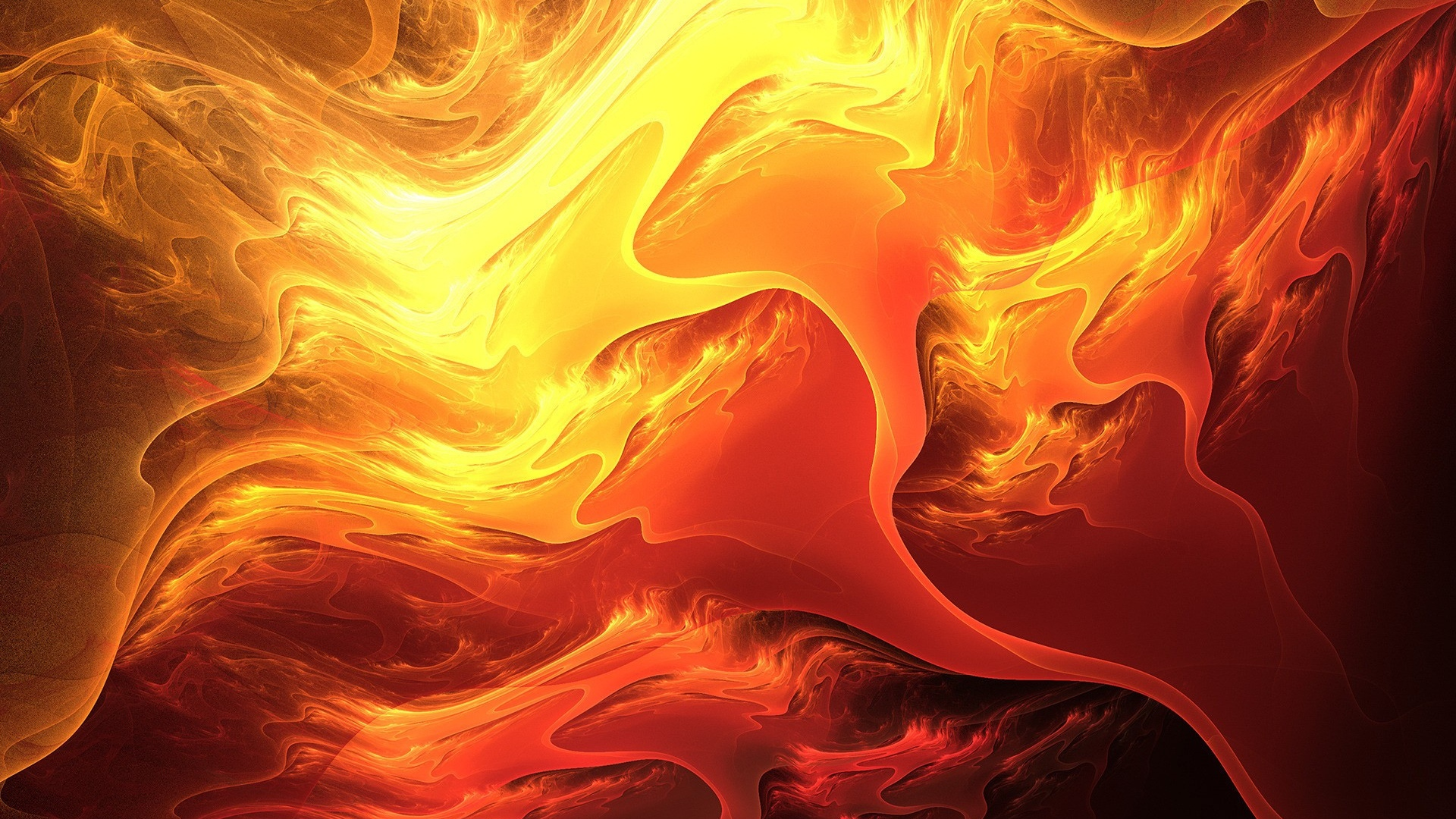 download wallpaper 1920x1080 fire, paint, orange, yellow full hd