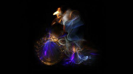 fire, smoke, lines