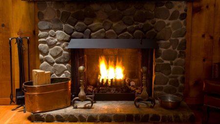fireplace, cozy, interior