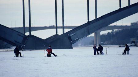 fishing, winters, ice
