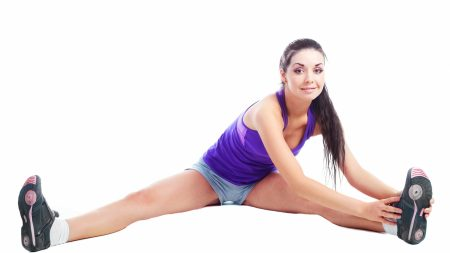 fitness, girl, white background