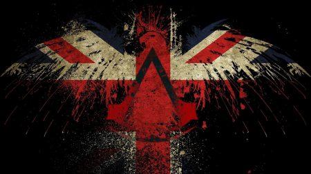 flag, britain, eagle