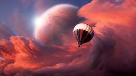 flight, balloon, sky