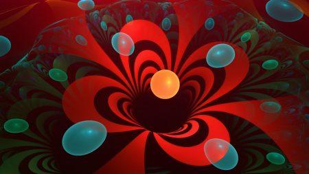 flower, fractal, red
