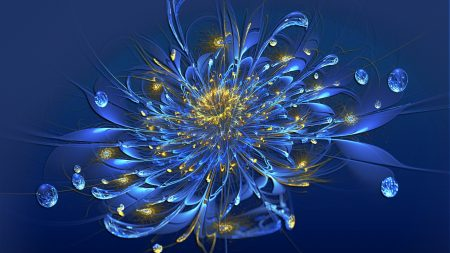 flower, smoke, blue