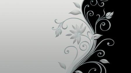 flower, stalk, black