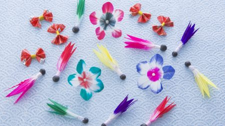 flowers, figurines, colorful